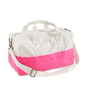 J. Crew Pink/White Gym or Beach Bag